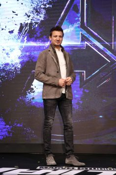 SEOUL, SOUTH KOREA - APRIL 15: Jeremy Renner attends the press conference for Marvel Studios' 'Avengers: Endgame' South Korea premiere on April 15, 2019 in Seoul, South Korea. (Photo by Chung Sung-Jun/Getty Images for Disney)