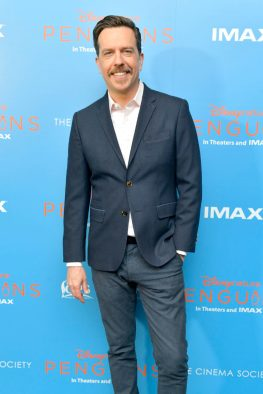 NEW YORK, NEW YORK - APRIL 14: Narrator Ed Helms attends Disneynature's 'PENGUINS' Premiere hosted by The Cinema Society at AMC Lincoln Square Theater on April 14, 2019 in New York. (Photo by Roy Rochlin/Getty Images for Disney Studios)