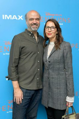 NEW YORK, NEW YORK - APRIL 14: Scott Adsit (L) attends Disneynature's 'PENGUINS' Premiere hosted by The Cinema Society at AMC Lincoln Square Theater on April 14, 2019 in New York. (Photo by Roy Rochlin/Getty Images for Disney Studios)
