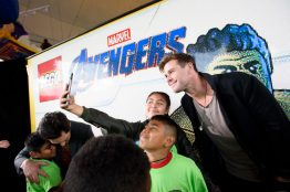 ANAHEIM, CA - APRIL 05: Chris Hemsworth attends Avengers Universe Unites, a charity event to celebrate the donation of more than $5 million in cash and toys to nonprofits supporting children with critical illnesses, at Disney California Adventure Park on April 5, 2019 in Anaheim, California.