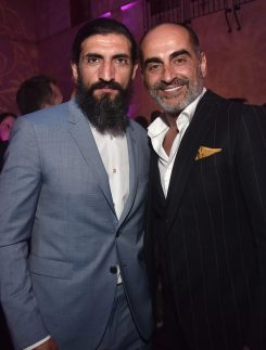 """LOS ANGELES, CA - MAY 21: Numan Acar (L) and Navid Negahban attend the World Premiere of Disney's """"Aladdin"""" at the El Capitan Theater in Hollywood CA on May 21, 2019, in the culmination of the film's Magic Carpet World Tour with stops in Paris, London, Berlin, Tokyo, Mexico City and Amman, Jordan. (Photo by Alberto E. Rodriguez/Getty Images for Disney) *** Local Caption *** Navid Negahban; Numan Acar"""