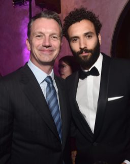 """LOS ANGELES, CA - MAY 21: President of Walt Disney Studios Motion Picture Production, Sean Bailey (L) and Marwan Kenzari attend the World Premiere of Disney's """"Aladdin"""" at the El Capitan Theater in Hollywood CA on May 21, 2019, in the culmination of the film's Magic Carpet World Tour with stops in Paris, London, Berlin, Tokyo, Mexico City and Amman, Jordan. (Photo by Alberto E. Rodriguez/Getty Images for Disney) *** Local Caption *** Sean Bailey; Marwan Kenzari"""