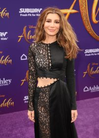 """LOS ANGELES, CA - MAY 21: Nasim Pedrad attends the World Premiere of Disney's """"Aladdin"""" at the El Capitan Theater in Hollywood CA on May 21, 2019, in the culmination of the film's Magic Carpet World Tour with stops in Paris, London, Berlin, Tokyo, Mexico City and Amman, Jordan. (Photo by Jesse Grant/Getty Images for Disney) *** Local Caption *** Nasim Pedrad"""