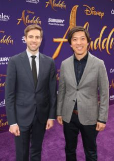 """LOS ANGELES, CA - MAY 21: Producers Jonathan Eirich (L) and Dan Lin attend the World Premiere of Disney's """"Aladdin"""" at the El Capitan Theater in Hollywood CA on May 21, 2019, in the culmination of the film's Magic Carpet World Tour with stops in Paris, London, Berlin, Tokyo, Mexico City and Amman, Jordan. (Photo by Jesse Grant/Getty Images for Disney) *** Local Caption *** Jonathan Eirich; Dan Lin"""
