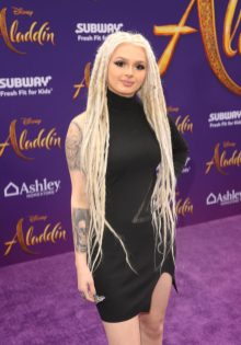 """LOS ANGELES, CA - MAY 21: Zhavia Ward attends the World Premiere of Disney's """"Aladdin"""" at the El Capitan Theater in Hollywood CA on May 21, 2019, in the culmination of the film's Magic Carpet World Tour with stops in Paris, London, Berlin, Tokyo, Mexico City and Amman, Jordan. (Photo by Jesse Grant/Getty Images for Disney) *** Local Caption *** Zhavia Ward"""