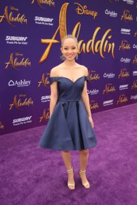 """LOS ANGELES, CA - MAY 21: Shelby Simmons attends the World Premiere of Disney's """"Aladdin"""" at the El Capitan Theater in Hollywood CA on May 21, 2019, in the culmination of the film's Magic Carpet World Tour with stops in Paris, London, Berlin, Tokyo, Mexico City and Amman, Jordan. (Photo by Jesse Grant/Getty Images for Disney) *** Local Caption *** Shelby Simmons"""