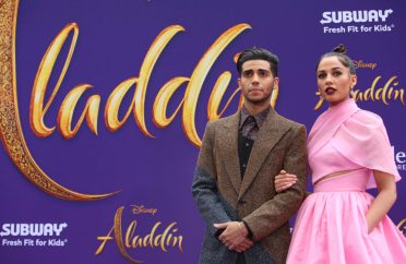 """LOS ANGELES, CA - MAY 21: Mena Massoud (L) and Naomi Scott attend the World Premiere of Disney's """"Aladdin"""" at the El Capitan Theater in Hollywood CA on May 21, 2019, in the culmination of the film's Magic Carpet World Tour with stops in Paris, London, Berlin, Tokyo, Mexico City and Amman, Jordan. (Photo by Jesse Grant/Getty Images for Disney) *** Local Caption *** Mena Massoud; Naomi Scott"""