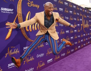 """LOS ANGELES, CA - MAY 21: Terry Crews attends the World Premiere of Disney's """"Aladdin"""" at the El Capitan Theater in Hollywood CA on May 21, 2019, in the culmination of the film's Magic Carpet World Tour with stops in Paris, London, Berlin, Tokyo, Mexico City and Amman, Jordan. (Photo by Jesse Grant/Getty Images for Disney) *** Local Caption *** Terry Crews"""