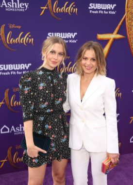 """LOS ANGELES, CA - MAY 21: Natasha Bure (L) and Candace Cameron-Bure attend the World Premiere of Disney's """"Aladdin"""" at the El Capitan Theater in Hollywood CA on May 21, 2019, in the culmination of the film's Magic Carpet World Tour with stops in Paris, London, Berlin, Tokyo, Mexico City and Amman, Jordan. (Photo by Jesse Grant/Getty Images for Disney) *** Local Caption *** Natasha Bure; Candace Cameron-Bure"""