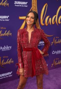 """LOS ANGELES, CA - MAY 21: Jasmine Tookes attends the World Premiere of Disney's """"Aladdin"""" at the El Capitan Theater in Hollywood CA on May 21, 2019, in the culmination of the film's Magic Carpet World Tour with stops in Paris, London, Berlin, Tokyo, Mexico City and Amman, Jordan. (Photo by Jesse Grant/Getty Images for Disney) *** Local Caption *** Jasmine Tookes"""