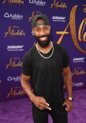 """LOS ANGELES, CA - MAY 21: Romeo Brown attends the World Premiere of Disney's """"Aladdin"""" at the El Capitan Theater in Hollywood CA on May 21, 2019, in the culmination of the film's Magic Carpet World Tour with stops in Paris, London, Berlin, Tokyo, Mexico City and Amman, Jordan. (Photo by Jesse Grant/Getty Images for Disney) *** Local Caption *** Romeo Brown"""