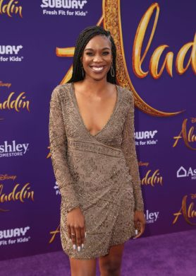 """LOS ANGELES, CA - MAY 21: Stacy Ike attends the World Premiere of Disney's """"Aladdin"""" at the El Capitan Theater in Hollywood CA on May 21, 2019, in the culmination of the film's Magic Carpet World Tour with stops in Paris, London, Berlin, Tokyo, Mexico City and Amman, Jordan. (Photo by Jesse Grant/Getty Images for Disney) *** Local Caption *** Stacy Ike"""
