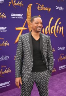 """LOS ANGELES, CA - MAY 21: Will Smith attends the World Premiere of Disney's """"Aladdin"""" at the El Capitan Theater in Hollywood CA on May 21, 2019, in the culmination of the film's Magic Carpet World Tour with stops in Paris, London, Berlin, Tokyo, Mexico City and Amman, Jordan. (Photo by Jesse Grant/Getty Images for Disney) *** Local Caption *** Will Smith"""
