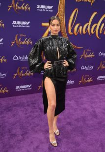 """LOS ANGELES, CA - MAY 21: Shanina Shaik attends the World Premiere of Disney's """"Aladdin"""" at the El Capitan Theater in Hollywood CA on May 21, 2019, in the culmination of the film's Magic Carpet World Tour with stops in Paris, London, Berlin, Tokyo, Mexico City and Amman, Jordan. (Photo by Jesse Grant/Getty Images for Disney) *** Local Caption *** Shanina Shaik"""