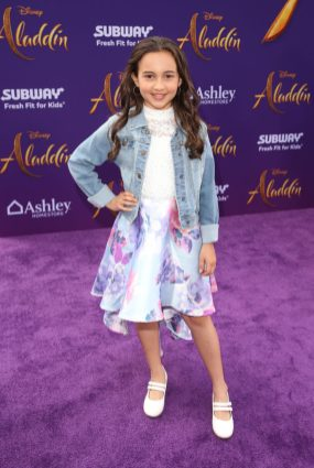 """LOS ANGELES, CA - MAY 21: Kaylin Hayman attends the World Premiere of Disney's """"Aladdin"""" at the El Capitan Theater in Hollywood CA on May 21, 2019, in the culmination of the film's Magic Carpet World Tour with stops in Paris, London, Berlin, Tokyo, Mexico City and Amman, Jordan. (Photo by Jesse Grant/Getty Images for Disney) *** Local Caption *** Kaylin Hayman"""