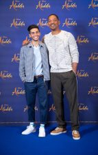 """Mena Massoud and Will Smith attend the photo call to celebrate the release of Disney's """"Aladdin"""" on May 10th in London, UK"""