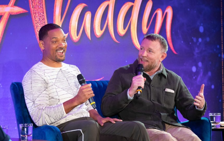 "Will Smith and Guy Ritchie attend the press conference to celebrate the release of Disney's ""Aladdin"" on May 10th in London, UK"