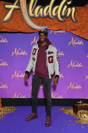 """PARIS, FRANCE - MAY 08: Ahmed Sylla attends the """"Aladdin"""" gala screening at Le Grand Rex on May 08, 2019 in Paris, France. (Photo by Pascal Le Segretain/Getty Images For Disney)"""