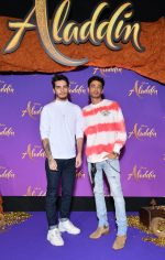 """PARIS, FRANCE - MAY 08: Bastien Treiber and Jerome Cridlig attend the """"Aladdin"""" gala screening at Le Grand Rex on May 08, 2019 in Paris, France. (Photo by Pascal Le Segretain/Getty Images For Disney)"""