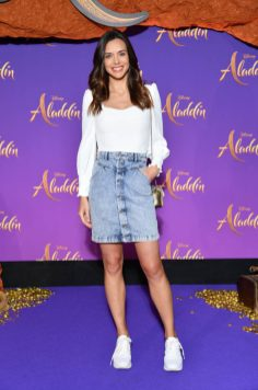 """PARIS, FRANCE - MAY 08: Marine Lorphelin attends the """"Aladdin"""" gala screening at Le Grand Rex on May 08, 2019 in Paris, France. (Photo by Pascal Le Segretain/Getty Images For Disney)"""