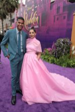 Jordan Spence and Naomi Scott attend the World Premiere of DisneyÕs Aladdin at the El Capitan Theater in Hollywood, CA on Tuesday, May 21, 2019, in the culmination of the filmÕs Magic Carpet World Tour with stops in Paris, London, Berlin, Tokyo, Mexico City and Amman, Jordan. (photo: Alex J. Berliner/ABImages)