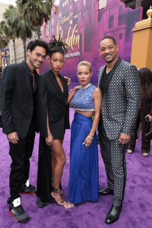 Trey Smith, Willow Smith, Jada Pinkett Smith and Will Smith attend the World Premiere of DisneyÕs Aladdin at the El Capitan Theater in Hollywood, CA on Tuesday, May 21, 2019, in the culmination of the filmÕs Magic Carpet World Tour with stops in Paris, London, Berlin, Tokyo, Mexico City and Amman, Jordan. (photo: Alex J. Berliner/ABImages)