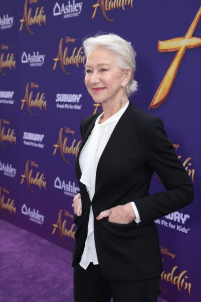 Helen Mirren attends the World Premiere of DisneyÕs Aladdin at the El Capitan Theater in Hollywood, CA on Tuesday, May 21, 2019, in the culmination of the filmÕs Magic Carpet World Tour with stops in Paris, London, Berlin, Tokyo, Mexico City and Amman, Jordan. (photo: Alex J. Berliner/ABImages)