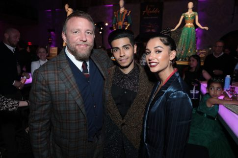 Guy Ritchie, Mena Massoud and Naomi Scott attend the World Premiere of DisneyÕs Aladdin after party at the Roosevelt Hotel in Hollywood, CA on Tuesday, May 21, 2019, in the culmination of the filmÕs Magic Carpet World Tour with stops in Paris, London, Berlin, Tokyo, Mexico City and Amman, Jordan. (photo: Alex J. Berliner/ABImages)