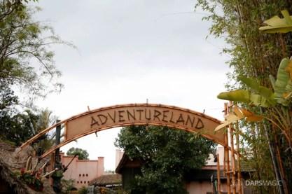 New Adventureland Sign at Disneyland