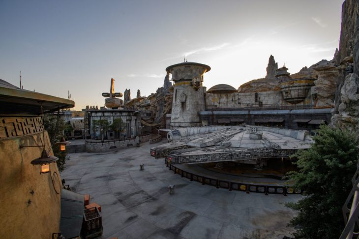 Star Wars: GalaxyÕs Edge at Disneyland Park in Anaheim, California, and at Disney's Hollywood Studios in Lake Buena Vista, Florida, is Disney's largest single-themed land expansion ever at 14-acres each, transporting guests to Black Spire Outpost, a village on the planet of Batuu. Guests will discover two signature attractions. Millennium Falcon: Smugglers Run (pictured), available opening day, and Star Wars: Rise of the Resistance, opening later this year. (Richard Harbaugh/Disney Parks)
