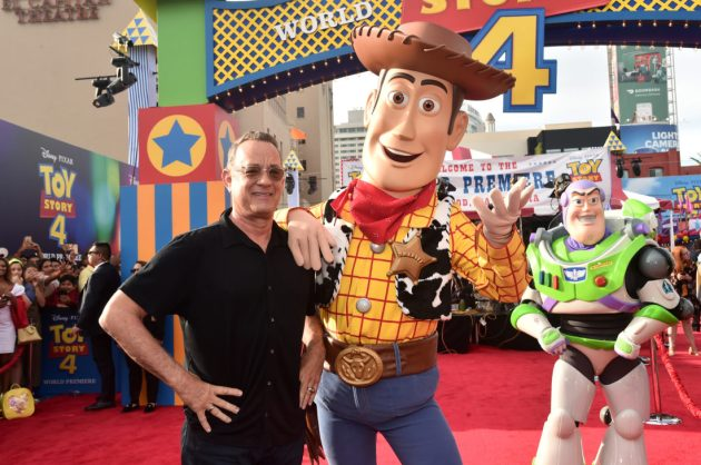 HOLLYWOOD, CA - JUNE 11: Tom Hanks attends the world premiere of Disney and Pixar's TOY STORY 4 at the El Capitan Theatre in Hollywood, CA on Tuesday, June 11, 2019. (Photo by Alberto E. Rodriguez/Getty Images for Disney) *** Local Caption *** Tom Hanks