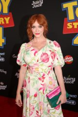 HOLLYWOOD, CA - JUNE 11: Christina Hendricks attends the world premiere of Disney and Pixar's TOY STORY 4 at the El Capitan Theatre in Hollywood, CA on Tuesday, June 11, 2019. (Photo by Jesse Grant/Getty Images for Disney) *** Local Caption *** Christina Hendricks