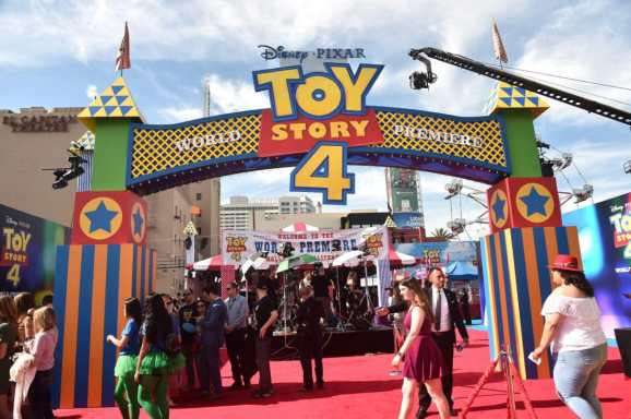 HOLLYWOOD, CA - JUNE 11: View of the atmosphere during the world premiere of Disney and Pixar's TOY STORY 4 at the El Capitan Theatre in Hollywood, CA on Tuesday, June 11, 2019. (Photo by Alberto E. Rodriguez/Getty Images for Disney)