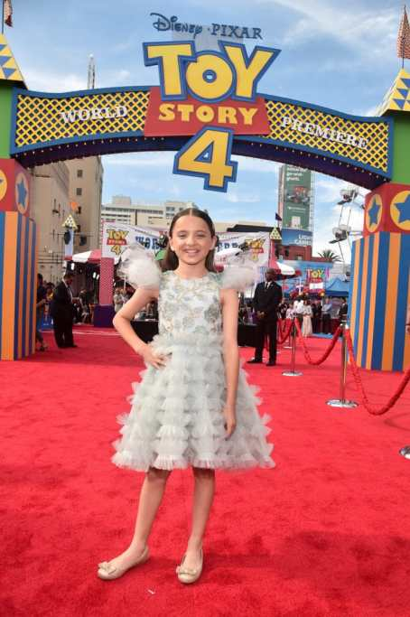 HOLLYWOOD, CA - JUNE 11: Madeleine McGraw attends the world premiere of Disney and Pixar's TOY STORY 4 at the El Capitan Theatre in Hollywood, CA on Tuesday, June 11, 2019. (Photo by Alberto E. Rodriguez/Getty Images for Disney) *** Local Caption *** Madeleine McGraw