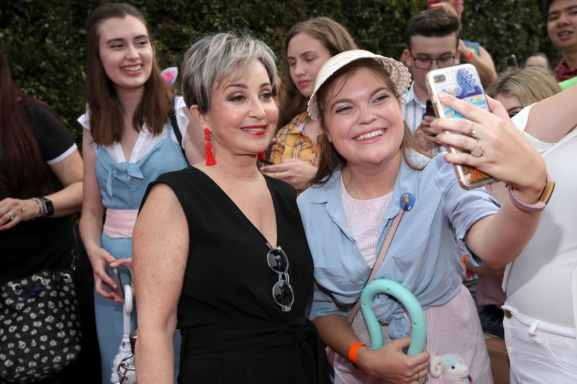 HOLLYWOOD, CA - JUNE 11: Annie Potts (L) attends the world premiere of Disney and Pixar's TOY STORY 4 at the El Capitan Theatre in Hollywood, CA on Tuesday, June 11, 2019. (Photo by Rich Polk/Getty Images for Disney) *** Local Caption *** Annie Potts