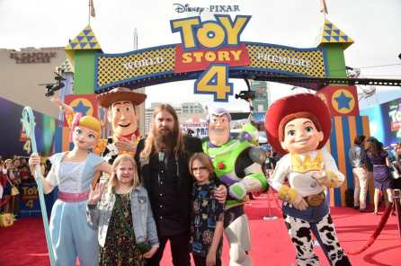 HOLLYWOOD, CA - JUNE 11: Chris Stapleton and family attend the world premiere of Disney and Pixar's TOY STORY 4 at the El Capitan Theatre in Hollywood, CA on Tuesday, June 11, 2019. (Photo by Alberto E. Rodriguez/Getty Images for Disney) *** Local Caption *** Chris Stapleton