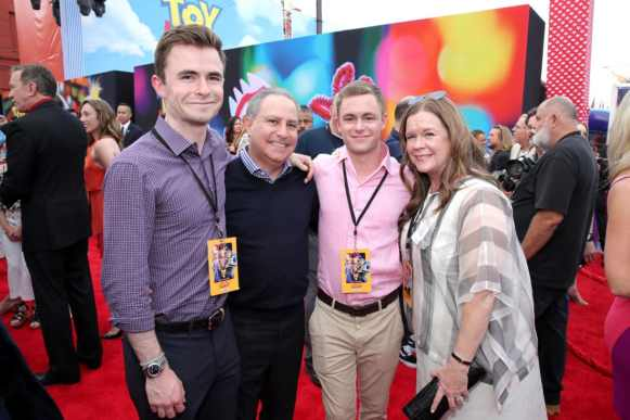 HOLLYWOOD, CA - JUNE 11: Walt Disney Studios President, Alan Bergman and family attend the world premiere of Disney and Pixar's TOY STORY 4 at the El Capitan Theatre in Hollywood, CA on Tuesday, June 11, 2019. (Photo by Rich Polk/Getty Images for Disney) *** Local Caption *** Alan Bergman