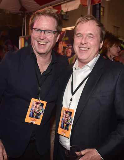 HOLLYWOOD, CA - JUNE 11: (L-R) Executive producer/screenwriter Andrew Stanton and Brad Bird attend the world premiere of Disney and Pixar's TOY STORY 4 at the El Capitan Theatre in Hollywood, CA on Tuesday, June 11, 2019. (Photo by Alberto E. Rodriguez/Getty Images for Disney) *** Local Caption *** Brad Bird; Andrew Stanton