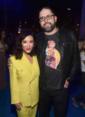 HOLLYWOOD, CA - JUNE 11: (L-R) Ally Maki and director Josh Cooley attend the world premiere of Disney and Pixar's TOY STORY 4 at the El Capitan Theatre in Hollywood, CA on Tuesday, June 11, 2019. (Photo by Alberto E. Rodriguez/Getty Images for Disney) *** Local Caption *** Josh Cooley; Ally Maki