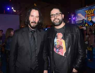 HOLLYWOOD, CA - JUNE 11: (L-R) Keanu Reeves and director Josh Cooley attend the world premiere of Disney and Pixar's TOY STORY 4 at the El Capitan Theatre in Hollywood, CA on Tuesday, June 11, 2019. (Photo by Alberto E. Rodriguez/Getty Images for Disney) *** Local Caption *** Josh Cooley; Keanu Reeves