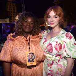 HOLLYWOOD, CA - JUNE 11: (L-R) Retta and Christina Hendricks attend the world premiere of Disney and Pixar's TOY STORY 4 at the El Capitan Theatre in Hollywood, CA on Tuesday, June 11, 2019. (Photo by Alberto E. Rodriguez/Getty Images for Disney) *** Local Caption *** Christina Hendricks; Retta