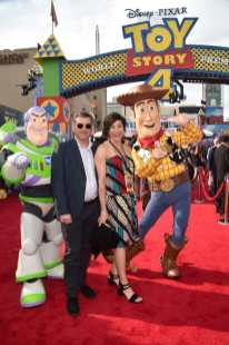 HOLLYWOOD, CA - JUNE 11: Meher Gourjian and producer Katherine Sarafian attend the world premiere of Disney and Pixar's TOY STORY 4 at the El Capitan Theatre in Hollywood, CA on Tuesday, June 11, 2019. (Photo by Alberto E. Rodriguez/Getty Images for Disney) *** Local Caption *** Katherine Sarafian; Meher Gourjian
