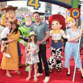 HOLLYWOOD, CA - JUNE 11: Tiffani Thiessen (L) and family attend the world premiere of Disney and Pixar's TOY STORY 4 at the El Capitan Theatre in Hollywood, CA on Tuesday, June 11, 2019. (Photo by Alberto E. Rodriguez/Getty Images for Disney) *** Local Caption *** Tiffani Thiessen