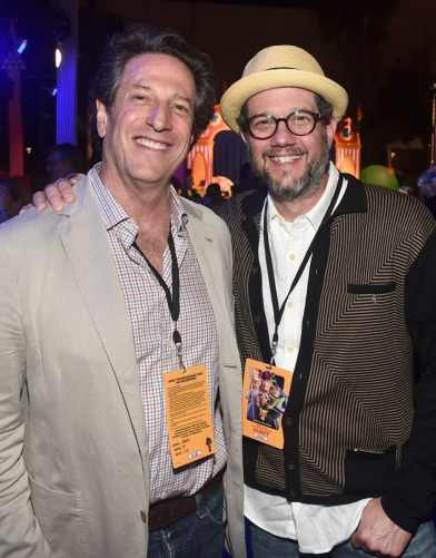 HOLLYWOOD, CA - JUNE 11: President of Disney Animation, Andrew Millstein (L) and Michael Giacchino attend the world premiere of Disney and Pixar's TOY STORY 4 at the El Capitan Theatre in Hollywood, CA on Tuesday, June 11, 2019. (Photo by Alberto E. Rodriguez/Getty Images for Disney) *** Local Caption *** Andrew Millstein; Michael Giacchino