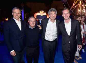HOLLYWOOD, CA - JUNE 11: (L-R) The Walt Disney Company Chairman and CEO Bob Iger, Walt Disney Studios President, Alan Bergman, Chairman, The Walt Disney Studios, Alan Horn and President of Walt Disney Studios Motion Picture Production, Sean Bailey attend the world premiere of Disney and Pixar's TOY STORY 4 at the El Capitan Theatre in Hollywood, CA on Tuesday, June 11, 2019. (Photo by Alberto E. Rodriguez/Getty Images for Disney) *** Local Caption *** Bob Iger; Alan Bergman; Alan Horn; Sean Bailey