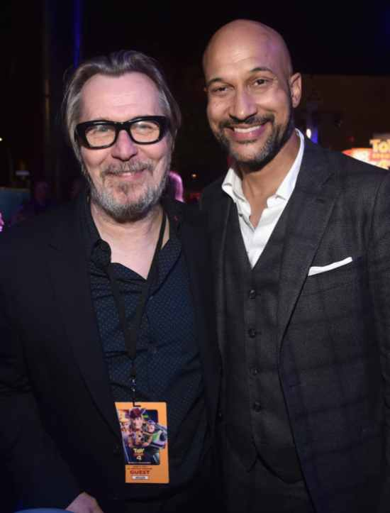 HOLLYWOOD, CA - JUNE 11: Gary Oldman (L) and Keegan-Michael Key attend the world premiere of Disney and Pixar's TOY STORY 4 at the El Capitan Theatre in Hollywood, CA on Tuesday, June 11, 2019. (Photo by Alberto E. Rodriguez/Getty Images for Disney) *** Local Caption *** Gary Oldman; Keegan-Michael Key