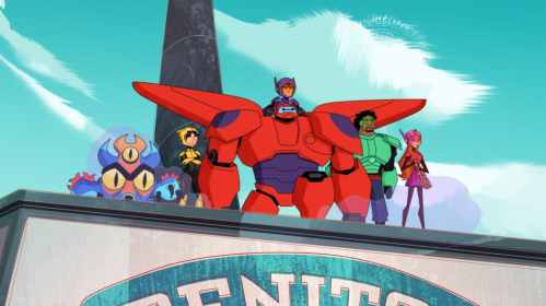 """BIG HERO 6 THE SERIES - """"Internabout"""" - Disney Channel has ordered a third season of the Emmy¨ Award-nominated animated """"Big Hero 6 The Series"""" ahead of the season two premiere, MONDAY, MAY 6 (3:30-4:00 p.m. EDT/PDT) on Disney Channel. (Disney Channel) FRED, GO GO, BAYMAX, HIRO, WASABI, HONEY LEMON"""
