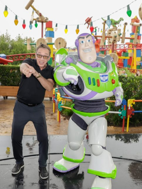 ORLANDO, FLORIDA - JUNE 08: Tim Allen visits Toy Story Land at Disney's Hollywood Studios on June 08, 2019 in Orlando, Florida. (Photo by John Parra/Getty Images for Disney)