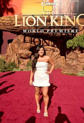 """HOLLYWOOD, CALIFORNIA - JULY 09: Remi Cruz attends the World Premiere of Disney's """"THE LION KING"""" at the Dolby Theatre on July 09, 2019 in Hollywood, California. (Photo by Alberto E. Rodriguez/Getty Images for Disney)"""