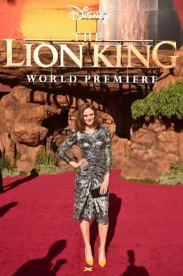 "HOLLYWOOD, CALIFORNIA - JULY 09: Emily Deschanel attends the World Premiere of Disney's ""THE LION KING"" at the Dolby Theatre on July 09, 2019 in Hollywood, California. (Photo by Alberto E. Rodriguez/Getty Images for Disney)"